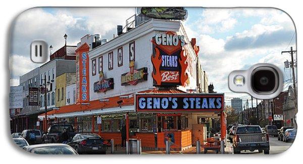 Geno's Steaks - South Philadelphia Galaxy S4 Case by Bill Cannon