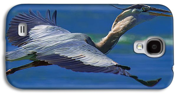 Gliding Great Blue Heron Galaxy S4 Case by Sebastian Musial