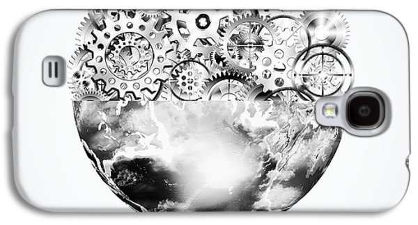 Globe With Cogs And Gears Galaxy S4 Case
