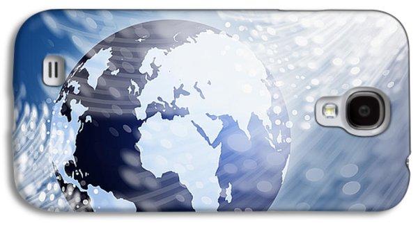 Globe With Fiber Optics Galaxy S4 Case