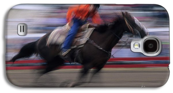 Wild Racers Galaxy S4 Case - Rodeo Go For Broke by Bob Christopher