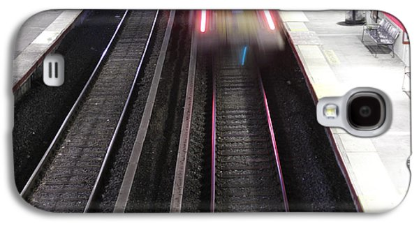Man Looking Down Galaxy S4 Cases - Great Neck Train Station Galaxy S4 Case by Stephen Walker