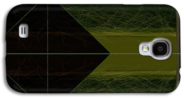 Green Square Galaxy S4 Case by Naxart Studio