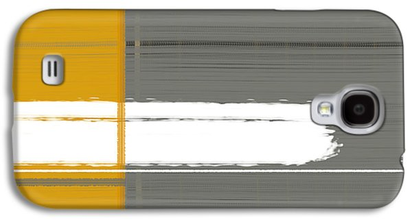 Grey And Yellow Galaxy S4 Case by Naxart Studio