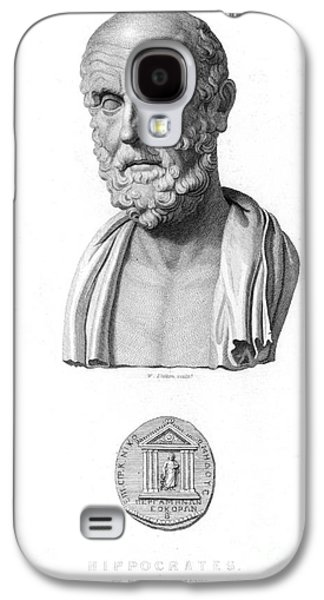 Statue Portrait Galaxy S4 Cases - HIPPOCRATES (c460-c377 B.C.) Galaxy S4 Case by Granger
