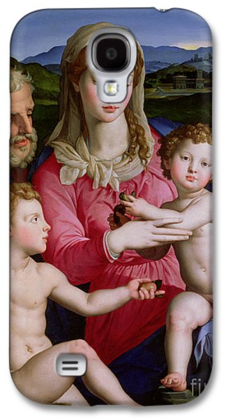 Holy Family With St Anne And The Infant St John The Baptist Galaxy S4 Case by Agnolo Bronzino