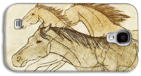 Galaxy S4 Case featuring the drawing Horse Sketch by Nareeta Martin