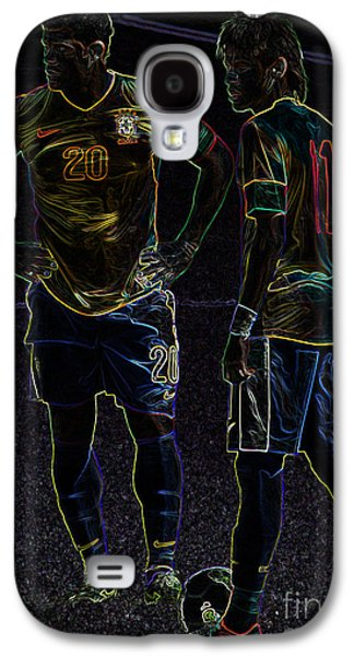 Hulk And Neymar Neon II Galaxy S4 Case by Lee Dos Santos