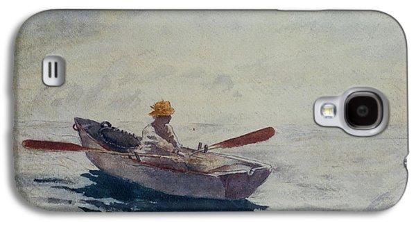 In A Boat Galaxy S4 Case by Winslow Homer