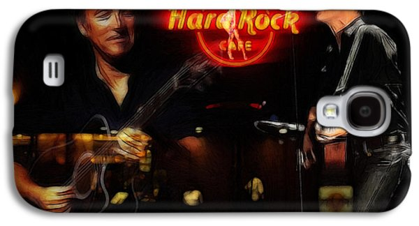 Bruce Springsteen Galaxy S4 Case - In The Hard Rock Cafe by Steve K