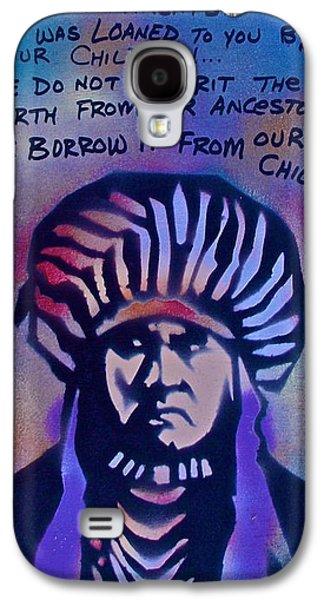 Indigenous Motto...blue Galaxy S4 Case