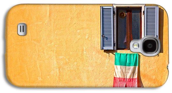 Italian Flag Window And Yellow Wall Galaxy S4 Case