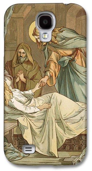Jesus Raising Jairus's Daughter Galaxy S4 Case by John Lawson