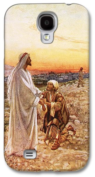 Jesus Withe The One Leper Who Returned To Give Thanks Galaxy S4 Case