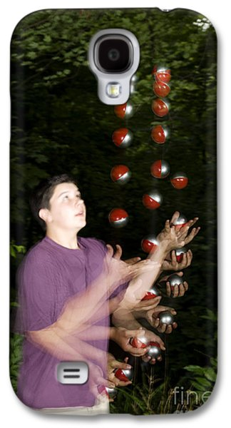 Juggling Balls Galaxy S4 Case by Ted Kinsman