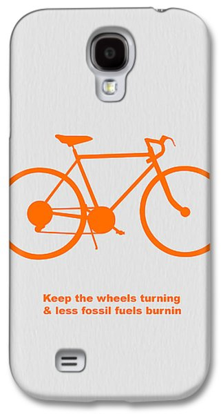 Keep The Wheels Turning Galaxy S4 Case by Naxart Studio