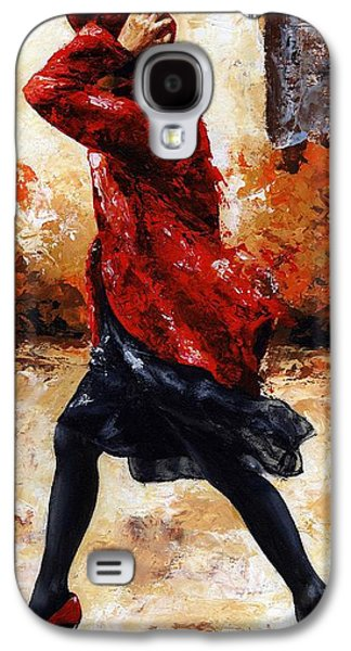 Lady In Red 28 Galaxy S4 Case by Emerico Imre Toth