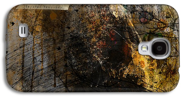 Layered Realities Abstract Composition Painting Print Galaxy S4 Case