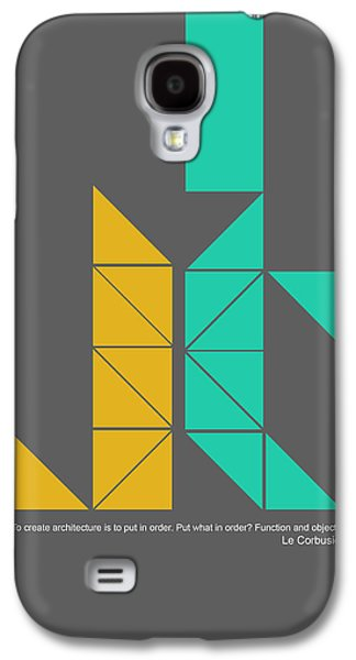 Le Corbusier Quote Poster Galaxy S4 Case
