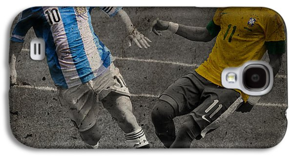 Lionel Messi And Neymar Clash Of The Titans Vii Galaxy S4 Case by Lee Dos Santos