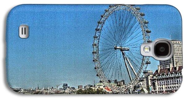 London Eye, #london #londoneye Galaxy S4 Case by Abdelrahman Alawwad