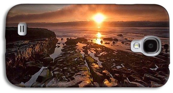 Long Exposure Sunset In La Jolla Galaxy S4 Case by Larry Marshall