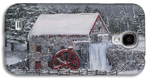 Longfellow's Grist Mill In Winter Galaxy S4 Case
