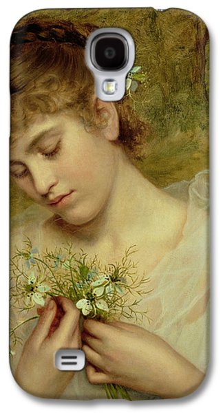 Love In A Mist Galaxy S4 Case by Sophie Anderson