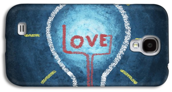 Love Word In Light Bulb Galaxy S4 Case by Setsiri Silapasuwanchai