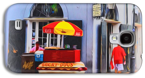 Lucky Dogs - Bourbon Street Galaxy S4 Case by Bill Cannon