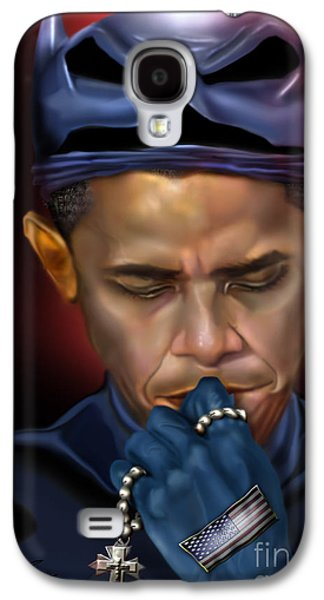 Mad Men Series 1 Of 6 - President Obama The Dark Knight Galaxy S4 Case by Reggie Duffie