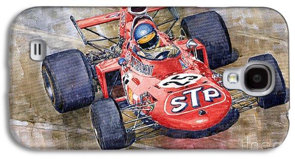 March 711 Ford Ronnie Peterson Gp Italia 1971 Galaxy S4 Case by Yuriy  Shevchuk