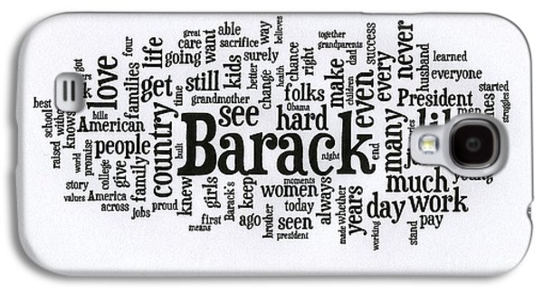 Michelle Obama Wordcloud At D N C Galaxy S4 Case by David Bearden
