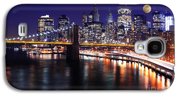 Midnight In The Shadow Of Brooklyn Bridge - Brooklyn Bridge Galaxy S4 Case