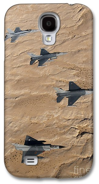 Military Fighter Jets Fly In Formation Galaxy S4 Case by Stocktrek Images
