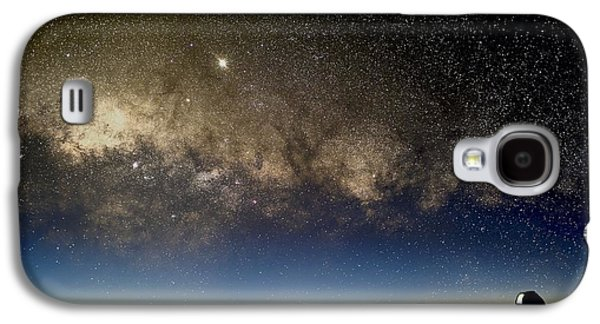 Milky Way And Observatories, Hawaii Galaxy S4 Case by David Nunuk