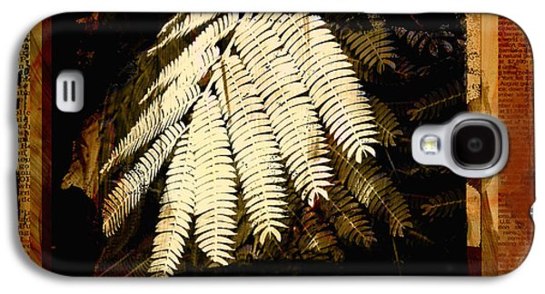 Mimosa Leaf Collage Galaxy S4 Case