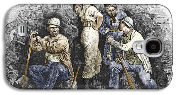 Miners And Their Wives, 19th Century Galaxy S4 Case by Sheila Terry