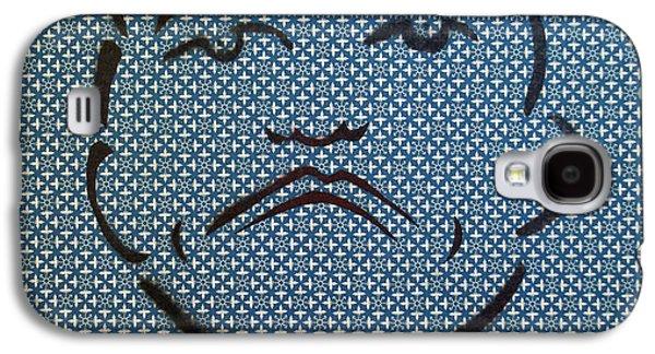 Mob Tillie Black On Blue Wheels Galaxy S4 Case by Patricia Arroyo