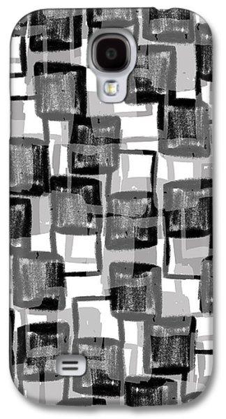 Monochrome Squares Galaxy S4 Case