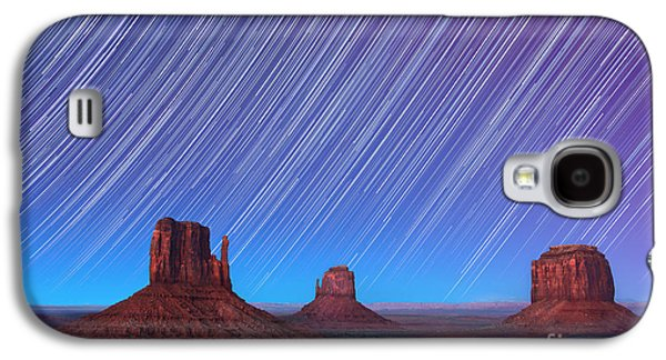 Monument Valley Star Trails  Galaxy S4 Case by Jane Rix