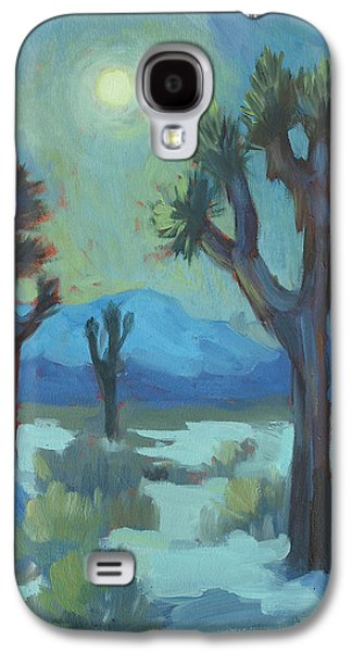 Moon Shadows At Joshua Galaxy S4 Case by Diane McClary