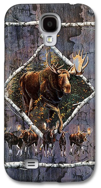 Bull Galaxy S4 Case - Moose Lodge by JQ Licensing