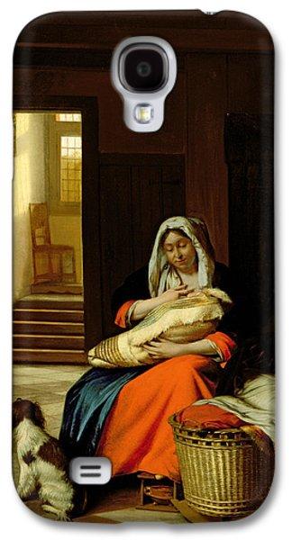 Mother Nursing Her Child Galaxy S4 Case by  Pieter de Hooch