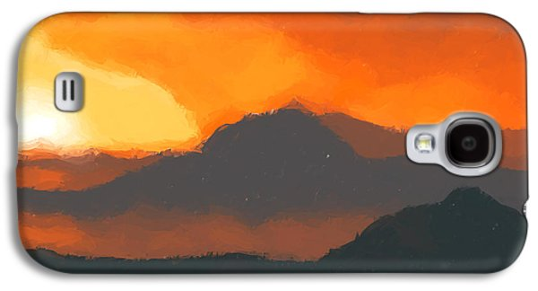 Mountain Sunset Galaxy S4 Case by Pixel  Chimp