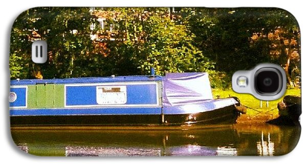 Narrowboat In Blue Galaxy S4 Case