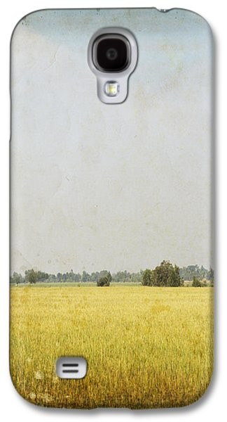 Nature Painting On Old Grunge Paper Galaxy S4 Case