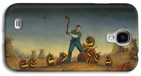 Night Of The Jack-o-lanterns Galaxy S4 Case by Stacy Drum