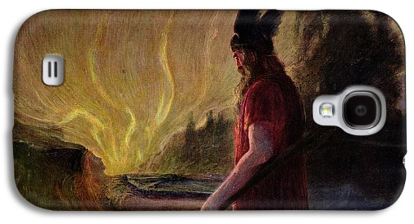 Odin Leaves As The Flames Rise Galaxy S4 Case