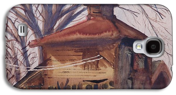 Galaxy S4 Case featuring the painting Old Garage by Rod Ismay